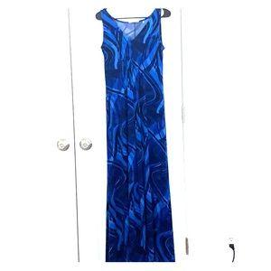 T Tahari Royal Blue Maxi Dress